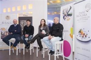 Maslinar Franco Basiaco, vinar Andrea Paulić, direktorica TZ Novigrad Vesna Ferenac i chef Lorenzo Marušić