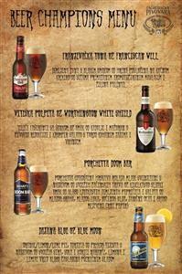 Beer Champions 2015-menu